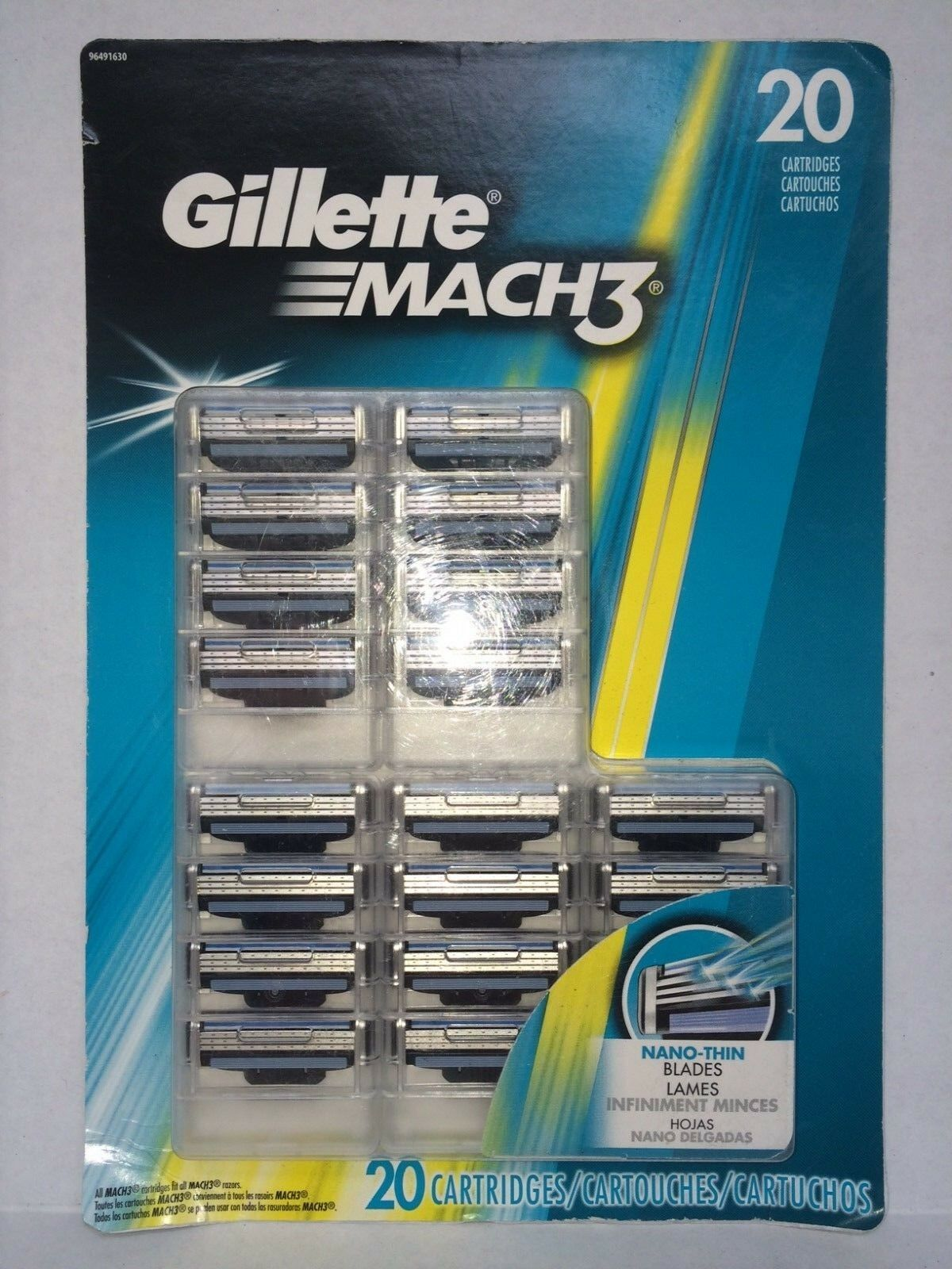 Gillette Mach3 Blades Refill Pack - 20 Cartridges