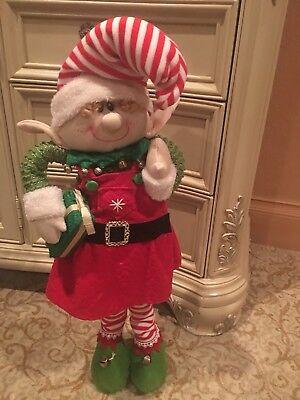 Winter Christmas Decor - Christmas Decor for the Winter Holidays - Pretty Elf (Santa's Helper) Decoration
