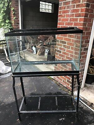 55 Gallon Glass Fish Tank With Metal Stand Used Pickup Only