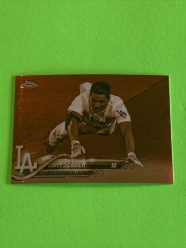 Corey Seager 2018 Topps Chrome Baseball Sepia Refractor Card 192 L.A. Dodgers  - $2.99