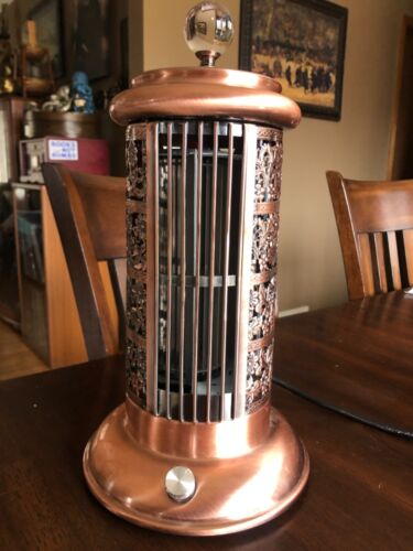 Rare Designer Aire Air Table Fan w Beautiful Copper Finish Works Great