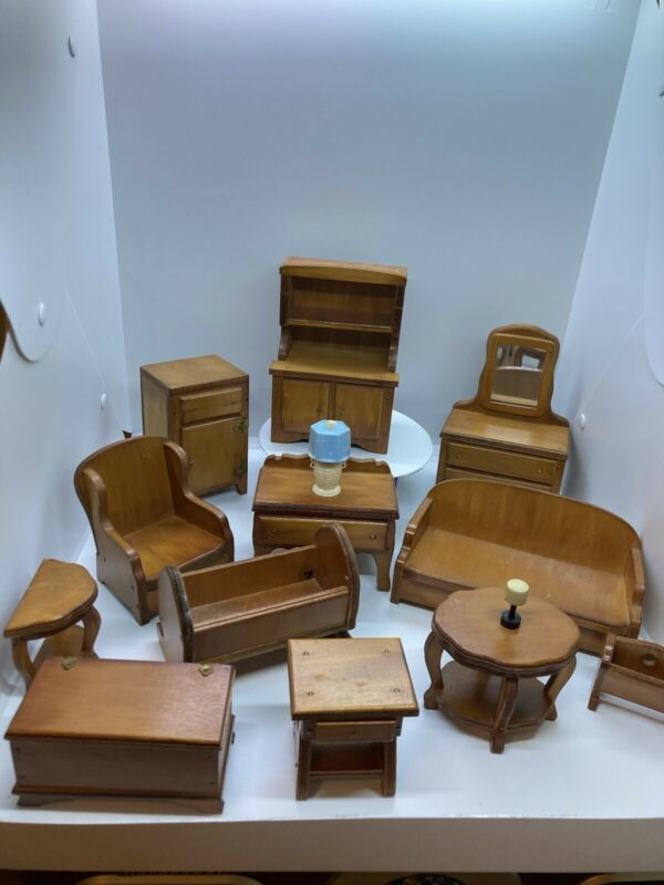 Vintage wood Doll house furniture