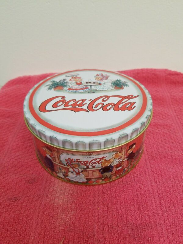 COCA COLA 3 mice christmas ornaments with tin - NEW