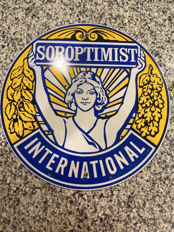 Vintage Soroptimist International Sign Very Rare