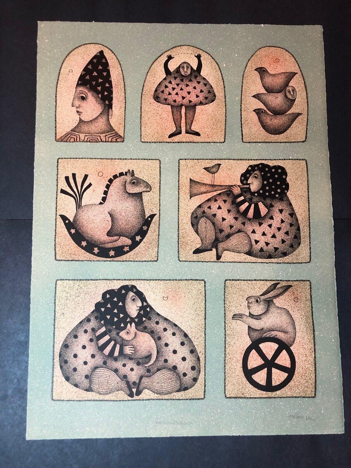 Carol Jablonsky Lithograph Art Print – Abracadabra Limited Edition 187/300 Art