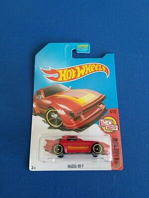 Hot Wheels  2017 Then and Now  Mazda RX-7 new htf Kmart exclusive red