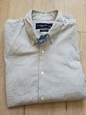 Abercrombie & Fitch SMALL Men's Super Slim Patterned Shirt NWT!