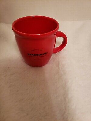 Starbucks 2016 RED Abbey 3 oz Demitasse Cup Mini Espresso Mug