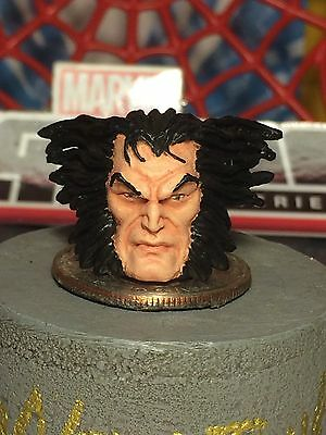 MARVEL LEGENDS PAINTED / FITTED  JIM-LEE STYLE LOGAN 1:12 HEAD CAST FOR 6IN FIG.