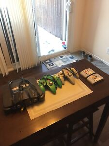Nintendo 64 console controllers and games