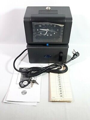 Lathem Time Clock - Model 2121 - With Keys Timecards & Manual