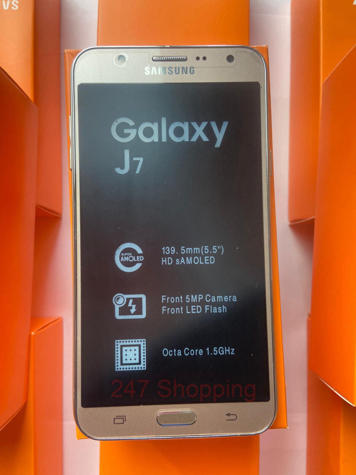 "Android Phone - Samsung Galaxy J7 SM-J700 5.5"" Dual SIM 4G 16GB Android Smart Phone Unlocked UK"