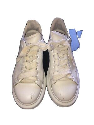 GENUINEalexander mcqueen white trainers Size 5 White Leather Black Suede At Back