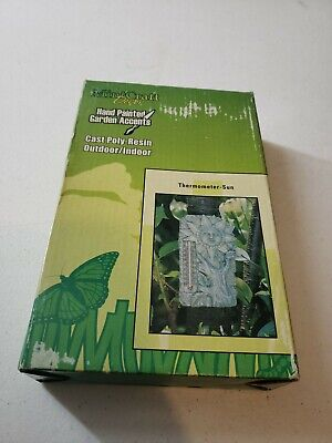 Vintage Mint Craft Decor Cast Poly-Resin Indoor/Outdoor Thermometer Sun NEW NOS