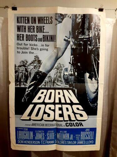 folded poster BORN LOSERS 1967 Original USA 27x41 Tom Laughlin as BILLY JACK