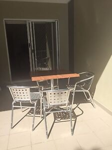 Outdoor table and 4 chairs Redcliffe Redcliffe Area Preview