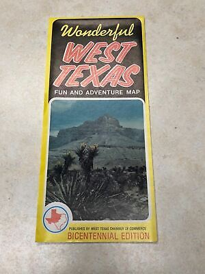 1976 West Texas Fun & Adventure Map / Travel Brochure](Fun Adventure Maps)