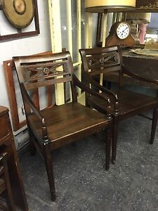 RARE ANTIQUE CAPTAINS CHAIRS $90 ea. Plus more variety