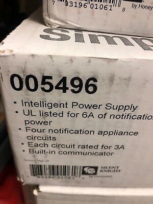 Silent Knight 5496 Intelligent Power Supply Nac Panel Fire Alarm New