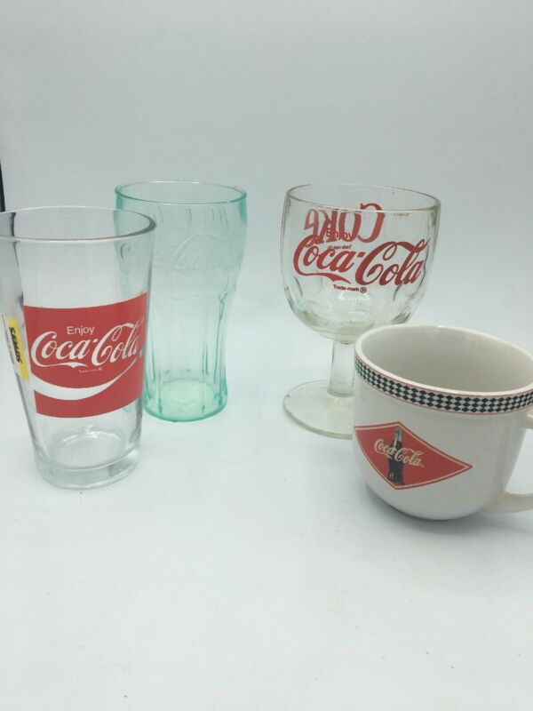 Lot Of 4 Coca Cola Drinking Cups