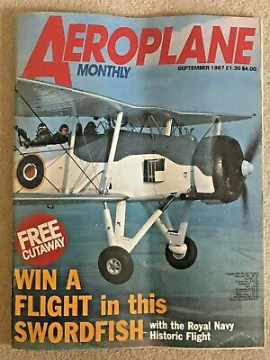 🛩️Collector AEROPLANE MONTHLY Mag Sept 1987 Royal Navy Flight Aircraft Pictures