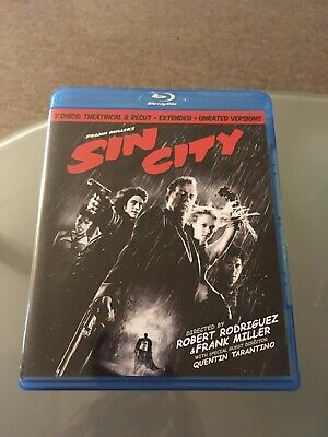 Sin City (Blu-ray Disc, 2009, 2-Disc Set, Special Edition Recut And (Sin City 2 Disc Special Edition Blu Ray)
