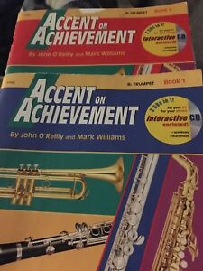 Accent on Achievement Music book for trumpet