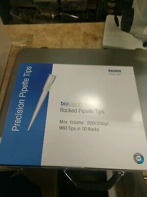 Rainin Bioclean Racked Precision Pipette Tips 960 200250 Ul