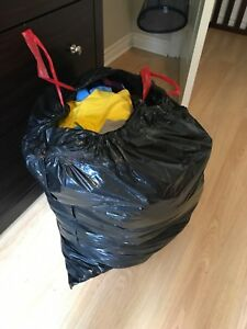 Boys garbage bag of 3t clothing