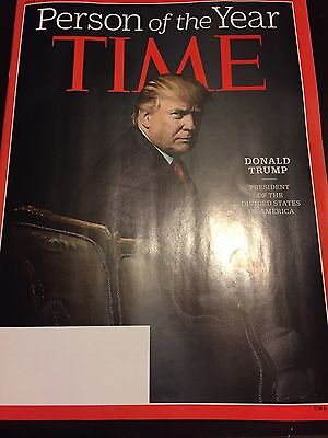 PRESIDENT DONALD TRUMP PERSON OF THE YEAR 2016 - TIME MAGAZINE - DECEMBER 2016