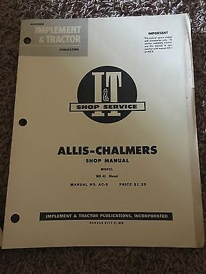 It Allis-chalmers Shop Manual Model Wd45 Diesel