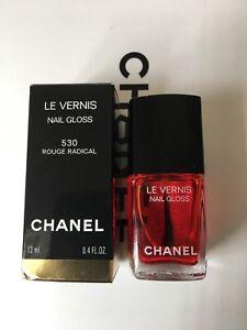 Chanel Le Vernis Nail Gloss 530 Rouge Radical Ltd Edition (Rare)