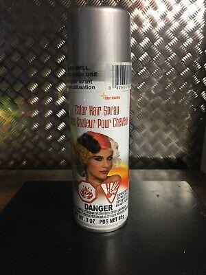 Temporary SILVER HAIR COLOR SPRAY 3oz Can Halloween Cosplay Dance Party Grey  - Halloween Hair Color Spray
