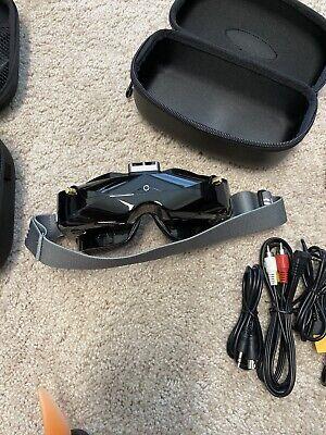 SKYZONE SKY02X 5.8Ghz 48CH Diversity FPV Goggles Very Good! Fatshark