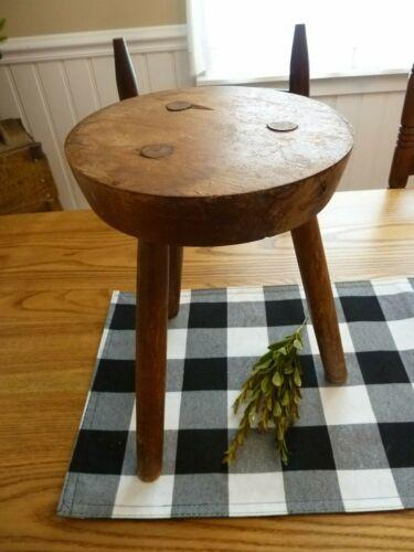 Vintage Original Mortised Barn / Milking Stool Vermont Made,  ESTATE FIND...AAFA