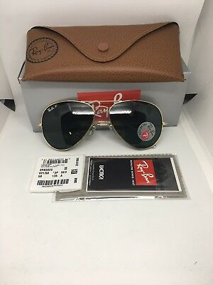 Ray Ban Aviator Classic Gold  Polarized Sunglasses 3025 001/58 58mm