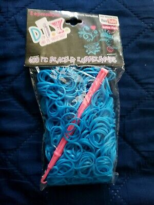 NEW Loom Bands Refill Latex Free Blue Rubber Bands Expressions DIY w/Instruction](Rubber Band Loom Instructions)