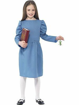 Matilda Costume Girls Roald Dahl kids school Book Week Fancy Dress - Roald Dahl Matilda Kostüm