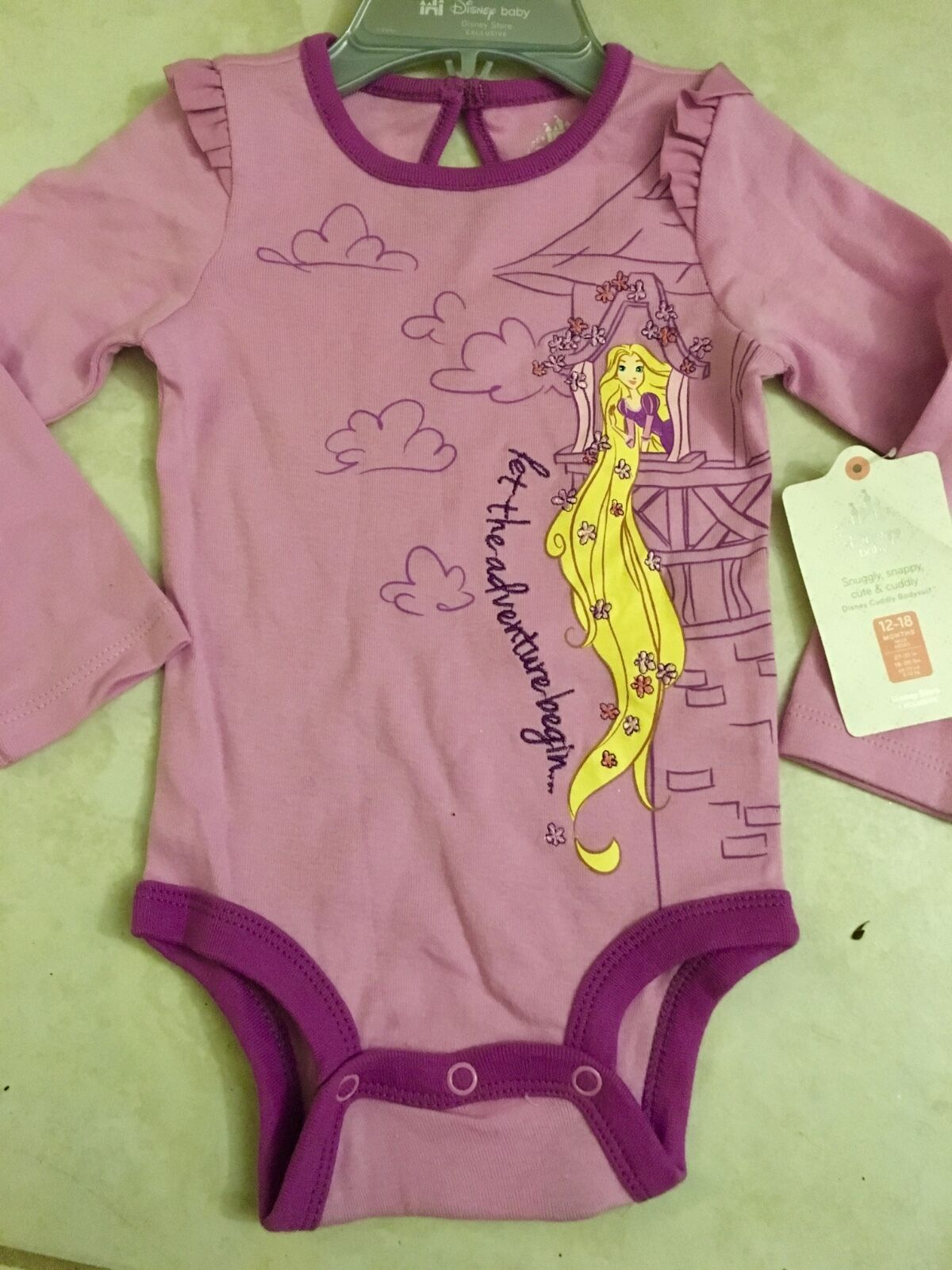 NEW Disney Store Tangled Princess RAPUNZEL Cuddly Bodysuit Baby 12
