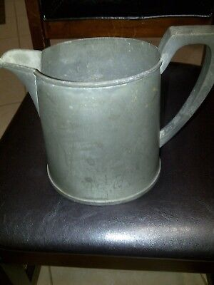 Antique PLYMOUTH PEWTER 7 Inch Base Pitcher 8 1/4