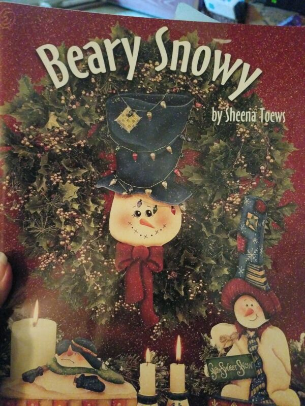 DECORATIVE TOLE PAINTING PATTERN BOOK BEARY SNOWY