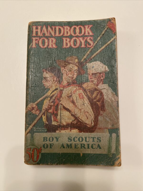 1945 Handbook For Boys BSA Thirty Eighth Print Boy Scout 2nd Ed Rockwell Cover