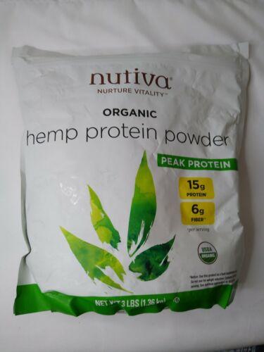 Nutiva Organic Cold-Pressed Hemp Seed Protein Powder 15 g Protein 6 g Fiber 3 Lb