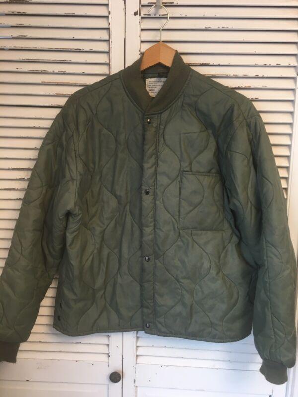 Vintage CWU-9/P Quilted Flyer's Jacket Liner USAF Men's Large