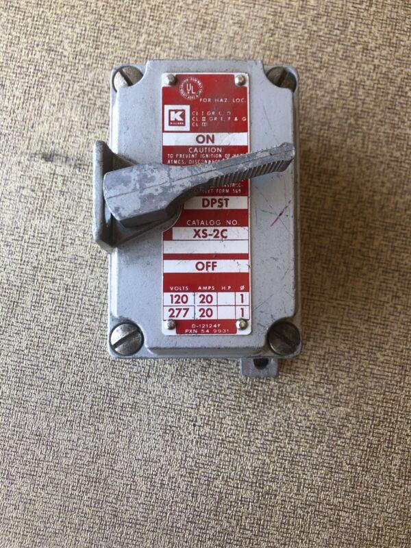 XS-2C DPSTKillark Explosion Proof Switch UL Listed