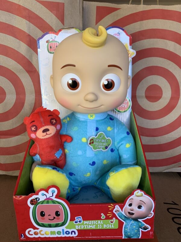 """Cocomelon JJ Doll 10"""" Plush Bedtime Singing Toy Youtube In Hand FAST SHIP"""
