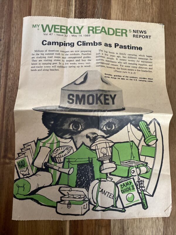 Vintage My Weekly Reader, May 14, 1969 , Smokey The Bear, Volume 47 Issue 32
