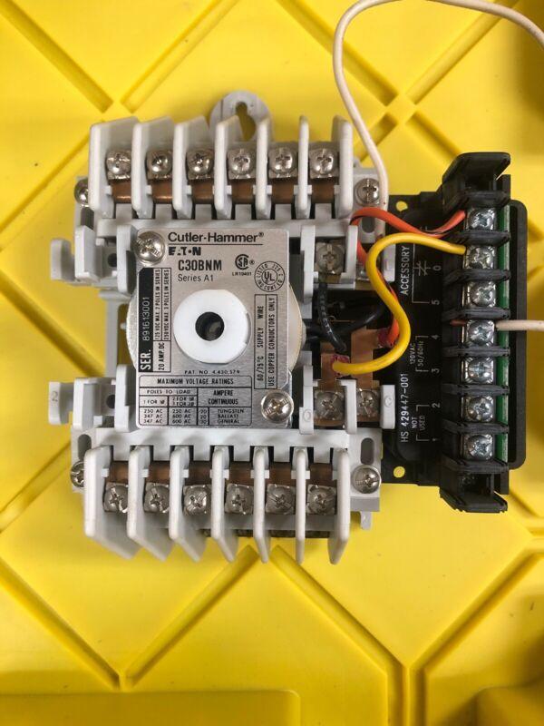 Cutler hammer c30bnm 120v coil lighting contactor 10 pole