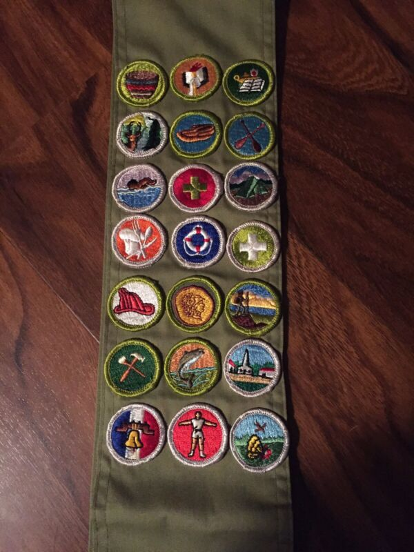 1960's Boy Scouts Of America Sash With 21 Patches