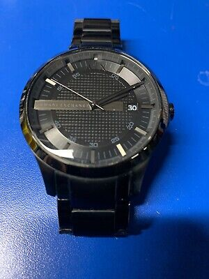 All Black Armani EXchange Watch. Stainless steel AX2104 Amazing Looking (Armani Exchange All Black Watch)